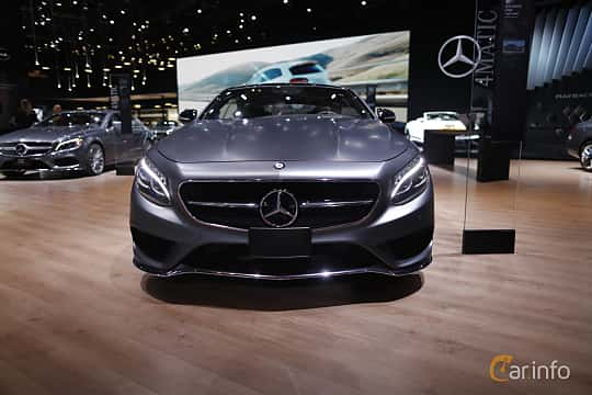 Front  of Mercedes-Benz S 500 4MATIC Coupé 4.6 V8 4MATIC 7G-Tronic Plus, 455ps, 2017 at North American International Auto Show 2017