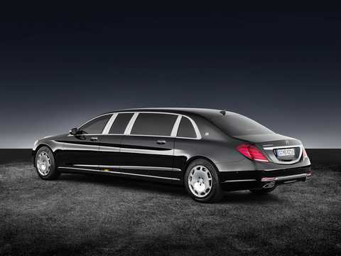 Back/Side of Mercedes-Benz Maybach S 600 Pullman  7G-Tronic Plus, 530hp, 2017