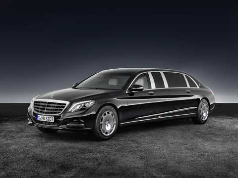 Front/Side  of Mercedes-Benz Maybach S 600 Pullman  7G-Tronic Plus, 530hp, 2017
