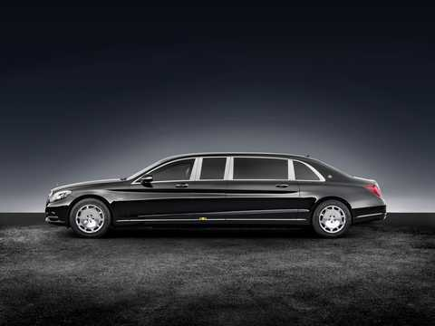 Side  of Mercedes-Benz Maybach S 600 Pullman  7G-Tronic Plus, 530hp, 2017