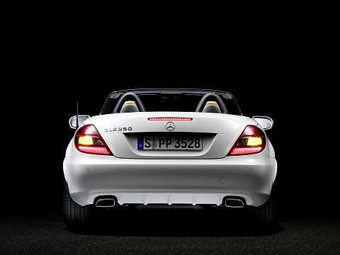 Back of Mercedes-Benz SLK 350  Manual, 305hp, 2008