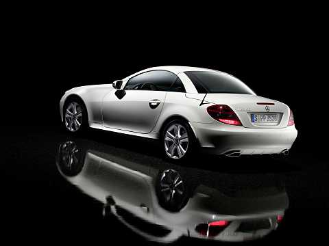 Back/Side of Mercedes-Benz SLK 350  Manual, 305hp, 2008
