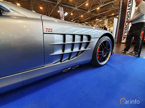 Close-up of Mercedes-Benz SLR 722 Edition  Automatic, 650ps, 2007 at Techno Classica Essen 2019