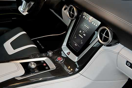 Interior of Mercedes-Benz SLS AMG Coupé Electric Drive  Single Speed, 751hp, 2014