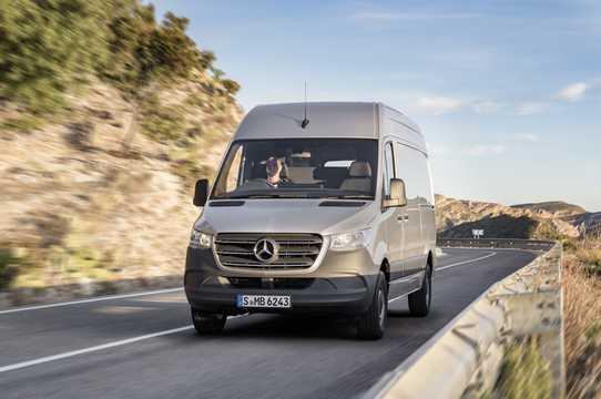 Front/Side  of Mercedes-Benz Sprinter Panel Van 907
