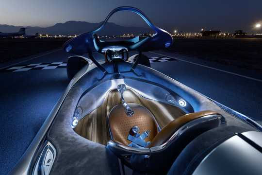 Interior of Mercedes-Benz Vision EQ Silver Arrow 80 kWh Single Speed, 748hp, 2018