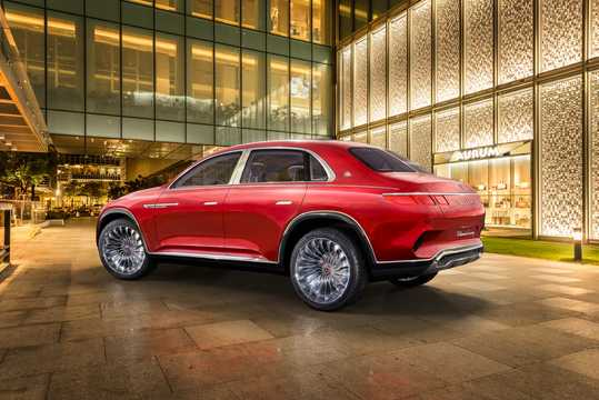 Back/Side of Mercedes-Benz Vision Mercedes-Maybach Ultimate Luxury 90 kWh Single Speed, 748hp, 2018