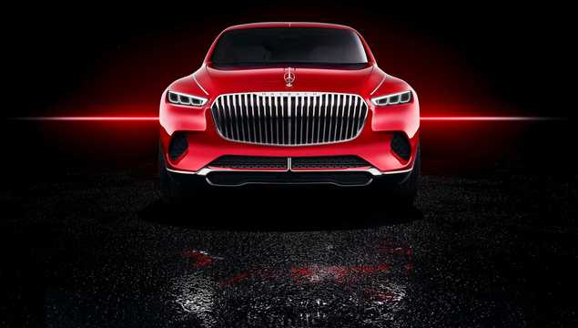 Front  of Mercedes-Benz Vision Mercedes-Maybach Ultimate Luxury 90 kWh Single Speed, 748hp, 2018
