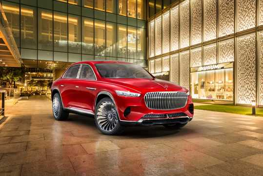 Front/Side  of Mercedes-Benz Vision Mercedes-Maybach Ultimate Luxury 90 kWh Single Speed, 748hp, 2018