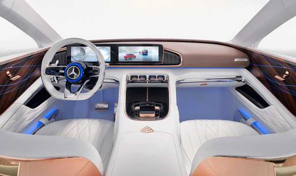 Interior of Mercedes-Benz Vision Mercedes-Maybach Ultimate Luxury 90 kWh Single Speed, 748hp, 2018