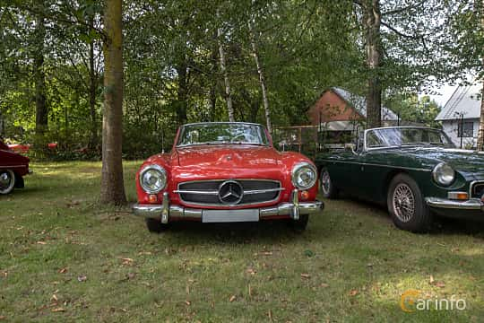 Front  of Mercedes-Benz 190 SL Roadster  Manual, 105ps, 1958 at Billesholms Veteranbilsträff 2019 augusti