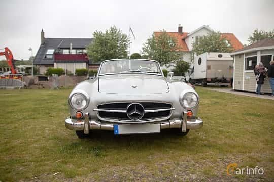 Front  of Mercedes-Benz 190 SL Roadster  Manual, 105ps, 1958 at Veteranbilsträff i Vikens hamn  2019 Maj