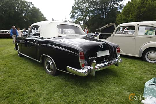 Back/Side of Mercedes-Benz 220 S Cabriolet  Manual, 101ps, 1956 at Sofiero Classic 2019