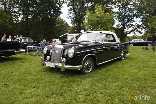 Front/Side  of Mercedes-Benz 220 S Cabriolet  Manual, 101ps, 1956 at Sofiero Classic 2019