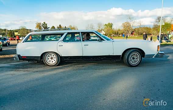 Side  of Mercury Marquis Colony Park 7.5 V8 Automatic, 223ps, 1976 at Wheelers Cruising, Vetlanda 2019