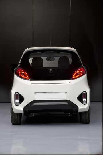 Back of MG EV Electric CVT, 71hp, 2014