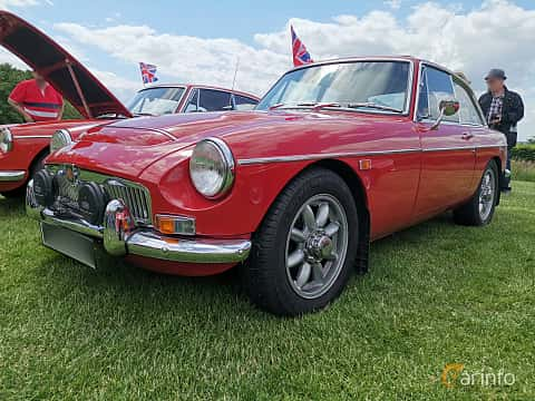 Front/Side  of MG MGC GT 2.9 Manual, 145ps, 1969 at Sofiero Classic 2019