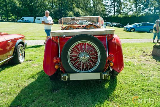 Back of MG TC Midget 1.25 Manual, 54ps, 1949 at Sportbilsklassiker Stockamöllan 2019