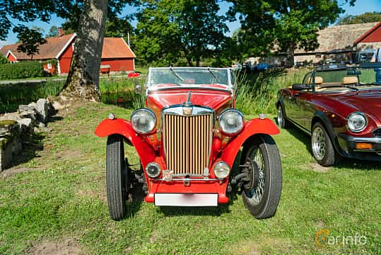 Front  of MG TC Midget 1.25 Manual, 54ps, 1949 at Sportbilsklassiker Stockamöllan 2019