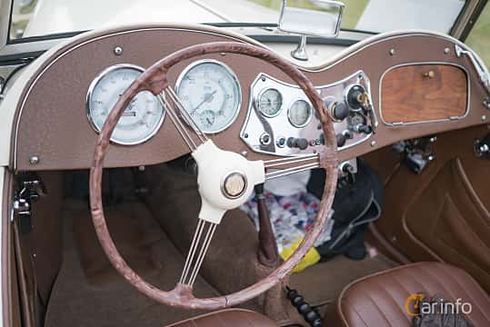 Interior of MG TD Midget 1.25 Manual, 57ps, 1952 at Thulinträffen 2017