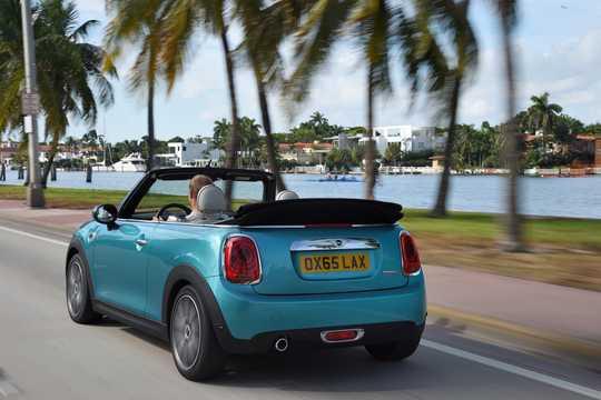 Back/Side of MINI Cooper Convertible  Manual, 136hp, 2015