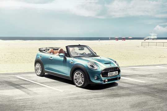 Front/Side  of MINI Cooper S Convertible  192hp, 2015