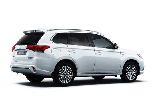 Back/Side of Mitsubishi Outlander P-HEV 2.4 Hybrid 4WD 230hp, 2019