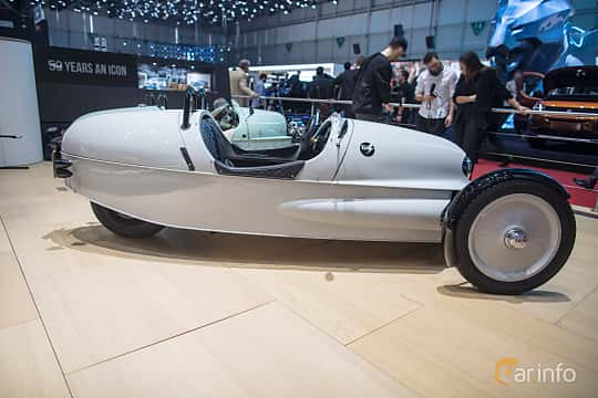 Side  of Morgan EV3 Electric Single Speed, 59ps, 2018 at Geneva Motor Show 2018