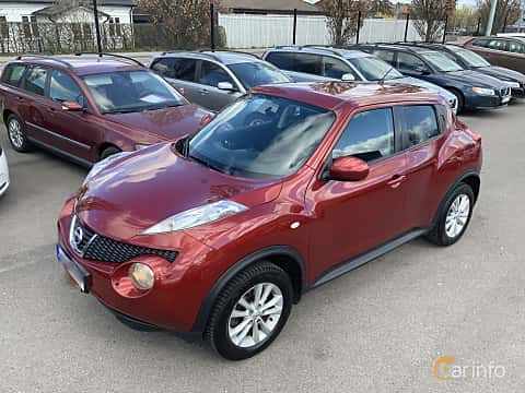 Front/Side  of Nissan Juke 1.6 DIG-T Manual, 190ps, 2011