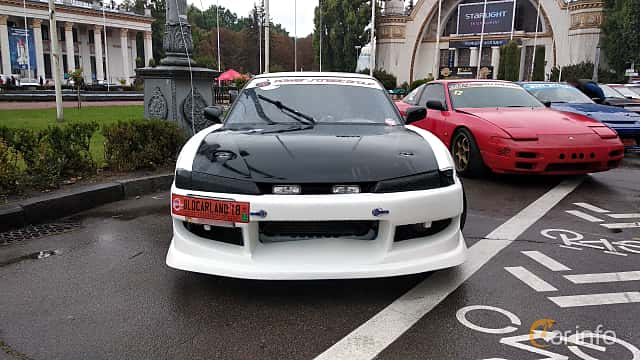 Front  of Nissan Silvia Coupé 1989 at Old Car Land no.2 2018