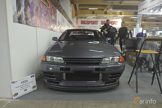 Front  of Nissan Skyline GT-R Coupé 2.6 4WD Manual, 280ps, 1990 at Bilsport Performance & Custom Motor Show 2019