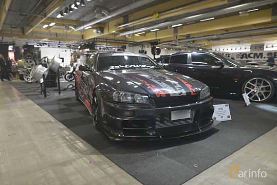 Front/Side  of Nissan Skyline GT-T Coupé 2.5 Manual, 280ps, 2002 at Bilsport Performance & Custom Motor Show 2019