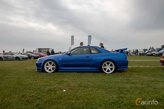Sida av Nissan Skyline GT-R Coupé 2.6 4WD Manual, 280ps, 1999 på Vallåkraträffen 2019