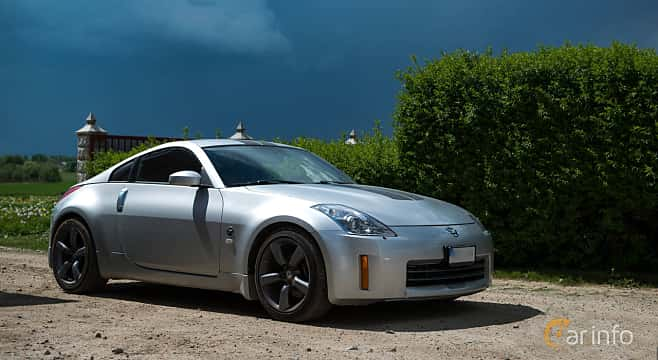 Front/Side of Nissan 350Z 3.5 V6 Manual, 313ps, 2007