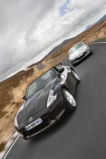 Fram/Sida av Nissan 370Z Roadster 2010