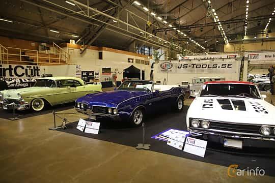 Fram/Sida av Oldsmobile 4-4-2 Convertible 6.6 V8 Hydra-Matic, 330ps, 1969 på Bilsport Performance & Custom Motor Show 2019