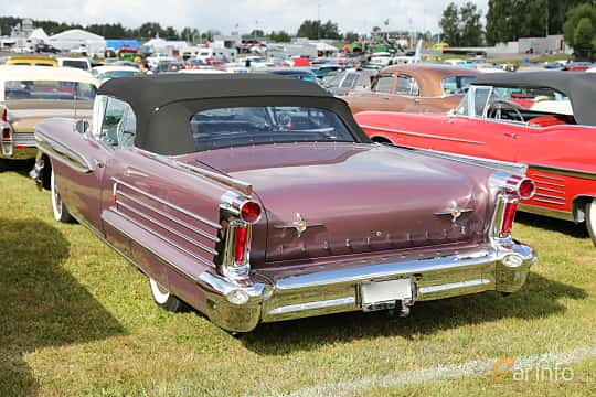 Back/Side of Oldsmobile Ninety-Eight Convertible Coupé 6.1 V8 Hydra-Matic, 309ps, 1958 at Wheels & Wings 2017