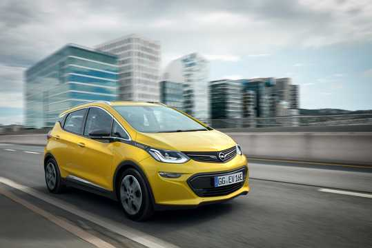 Front/Side  of Opel Ampera-e 30 kWh Single Speed, 204hp, 2017