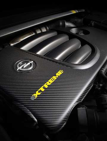 Engine compartment  of Opel Astra OPC Extreme 2.0 Turbo Manual, 306hp, 2014