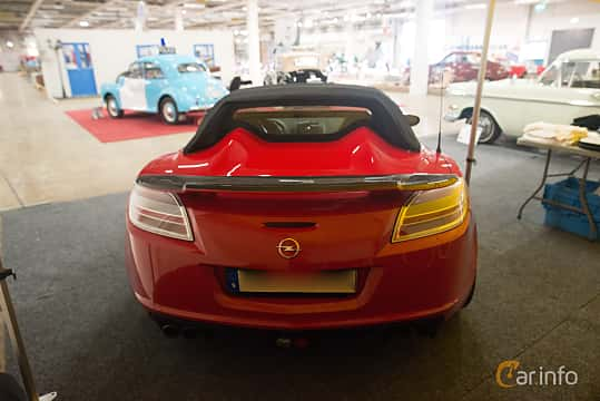 Back of Opel GT Roadster 2.0 Manual, 264ps, 2007 at Bilsport Performance & Custom Motor Show 2018