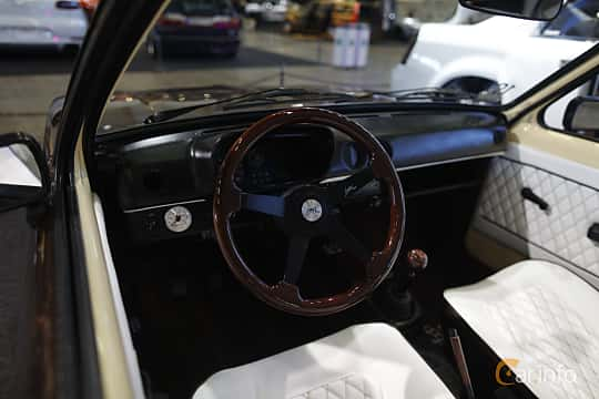 Interior of Opel Kadett Coupé 1979 at Bilsport Performance & Custom Motor Show 2019