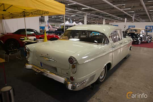 Back/Side of Opel Kapitän 4-door Sedan 2.5 Manual, 80ps, 1959 at Bilsport Performance & Custom Motor Show 2018