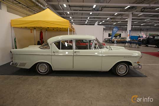 Side  of Opel Kapitän 4-door Sedan 2.5 Manual, 80ps, 1959 at Bilsport Performance & Custom Motor Show 2018