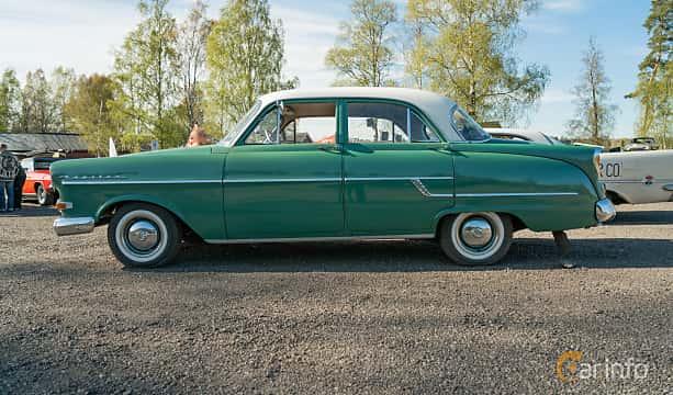 Side  of Opel Kapitän 4-door Sedan 2.5 Manual, 75ps, 1957 at Lissma Classic Car 2019 vecka 20