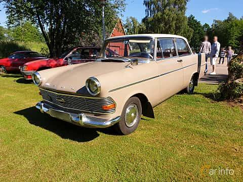 Front/Side  of Opel Rekord 2-door 1.7 Manual, 55ps, 1962 at Eddys bilträff Billesholm 2019 Tema Opel och Chevrolet
