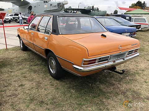 Back/Side of Opel Rekord 4-door 1.9 S Automatic, 90ps, 1975 at Old Car Land no.2 2019