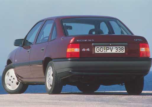 Back/Side of Opel Vectra Sedan 1.8 Manual, 88hp, 1989