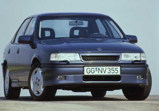 Front/Side  of Opel Vectra Sedan 2.0 Manual, 150hp, 1989