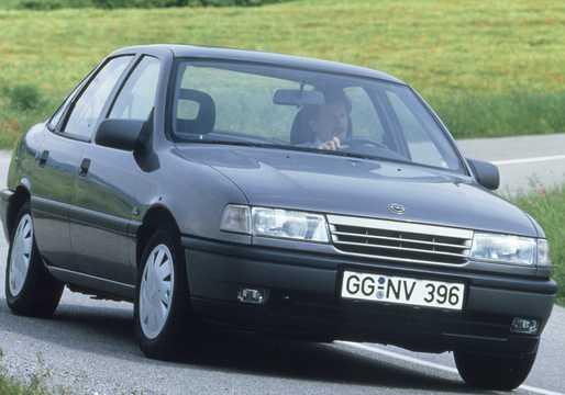 Front/Side  of Opel Vectra Sedan 1989