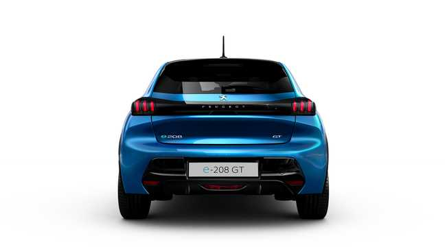 Back of Peugeot e-208  136hp, 2019